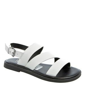 Franco Sarto Kelsey White Flat Sandals